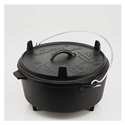 Amazoncom Keleday Pre Seasoned Cast Iron Dutch Oven With Lid For