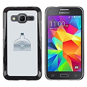 Stuss Case / Funda Carcasa protectora - BOTELLA MINIMALISTA - Samsung Galaxy Core Prime