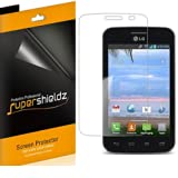[6-Pack] SUPERSHIELDZ- High Definition Clear Screen Protector For LG Optimus Dynamic II L39C (Tracfone) + Lifetime... by Supershieldz