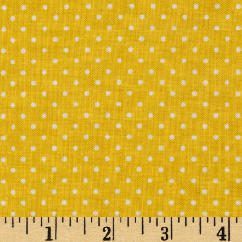 (Riley Blake Designs Riley Blake Swiss & Dots Yellow/White Fabric by The Yard,)
