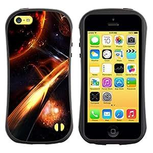 "Pulsar iFace Series Tpu silicona Carcasa Funda Case para Apple iPhone 5C , Apocalipsis Fuego Galaxy Espacio Cosmos Planet"""
