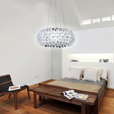 vingo® 18w acryl kronleuchter modern wohnzimmer hängeleuchte ... - Hangelampe Wohnzimmer Modern