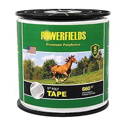 Powerfields EW10-330 1-Inch Polytape, 330-Feet, White