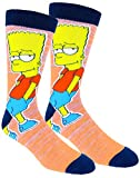 The Simpsons Casual Crew Socks 3 Pair Pack Multi Color (One Size, Homer/Bart/Burns)