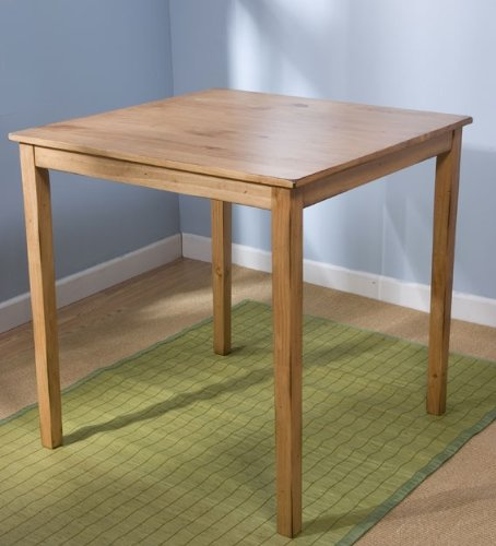 Target Marketing Systems Counter Height Belfast Table with Apron Trimmed Edges and Shaker Shaped Legs, Rustic Oak