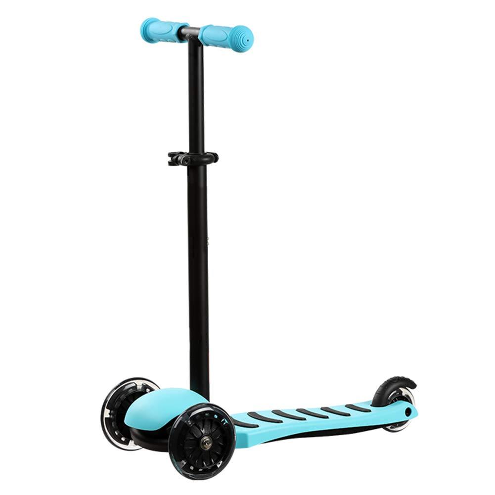 ファッションデザイナー キックスクーター三輪車スケートボードペダル式乗用スタントスクーター最初のスクーター折りたたみTバーハンドルLEDライトアップホイール付き調節可能な 青 B07H8JHV73 B07H8JHV73 青, 正栄作 曽根人形:47dd8078 --- a0267596.xsph.ru
