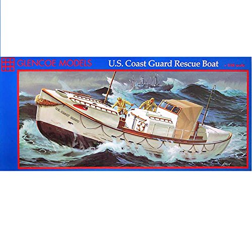 1:48 Scale U.S. Coast Guard Rescue Boat Plastic Model Kit (1989 Glencoe Models)