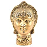 Indianshelf Handmade Brass Devi Mukhota Lady Head Statues Decoration Designer Vintage Statement Pieces Online New