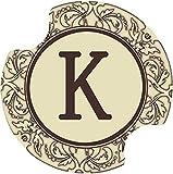 Thirstystone Monogram K Car Cup Holder Coaster, 2-Pack