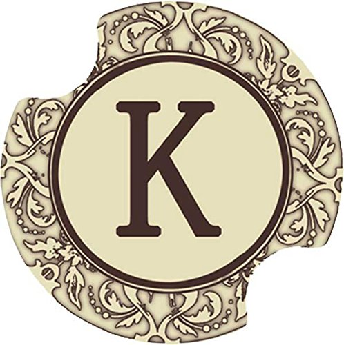 Thirstystone Monogram K Car Cup Holder Coaster,