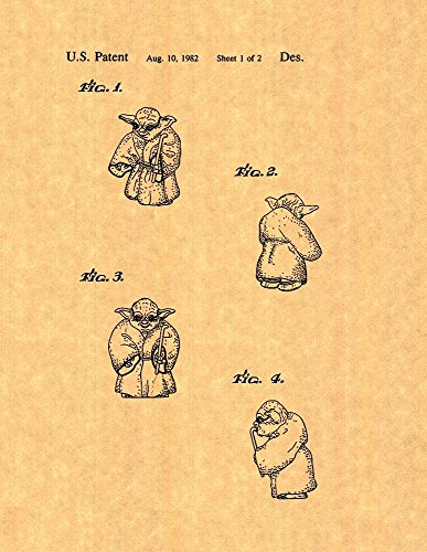 "Star Wars Yoda Patent Art Print Poster (8.5"" x 11"")"