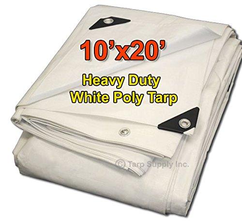 Tarpsupply 10'x20' Heavy Duty 12 By 12 Cross Weave 10 Mil...