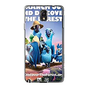Shock Absorption Hard Phone Case For Samsung Galaxy Note3 With Customized Vivid Rio 2 Pattern RichardBingley