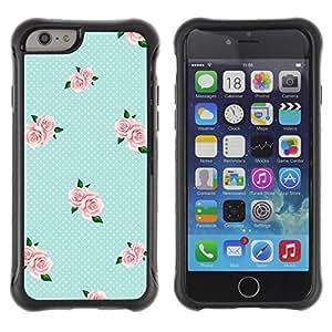 "Pulsar iFace Series Tpu silicona Carcasa Funda Case para Apple (4.7 inches!!!) iPhone 6 , Azul Rosa bebé Rosas"""
