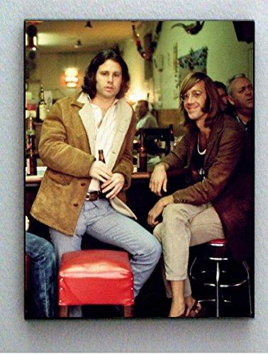 Rare Framed Jim Morrison Ray Manzarek at 1st Hard Rock Cafe Vintage Picture Jumbo Giclée Print