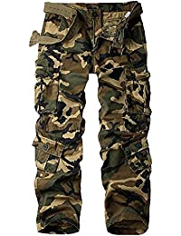 Men's Outdoor Casual Military Wild Combat Cargo Work Pants With 8 Pockets