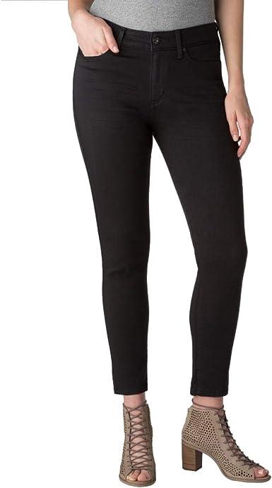 Amazon Com Denizen From Levi S Pantalones Vaqueros Para Mujer Talle Alto 2 Largos Color Negro Clothing