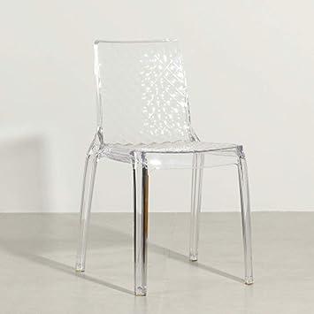Chaise De Salle A Manger Transparente Crystal Home Casual Outdoor Devil Chair Cafe Tea Shop