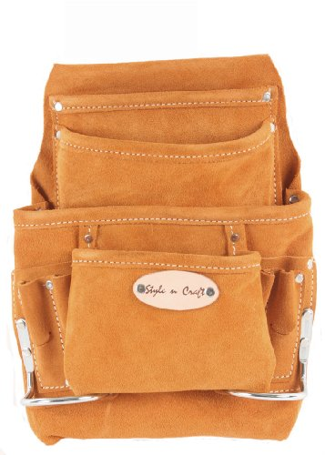 Style n Craft 91-923 10 Pocket Suede Nail and Tool Pouch (Pocket Nail Suede Leather)