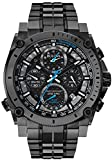 Bulova Men's 98B229 Precisionist Analog Display Japanese Quartz Black Watch