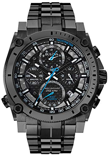 Bulova Men's 98B229 Precisionist Analog Display Japanese Quartz Black Watch from Bulova