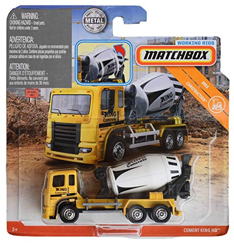 - Matchbox Working Rigs Construction Cement King HD, Yellow/White