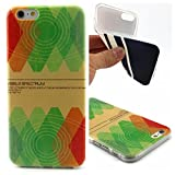 Uming® Retro Colorful Pattern Print Soft TPU case [ for IPhone 6 6G IPhone6 ] Shell Protective Mobile Cell Phone Case Cover - Color diamond BeHappy