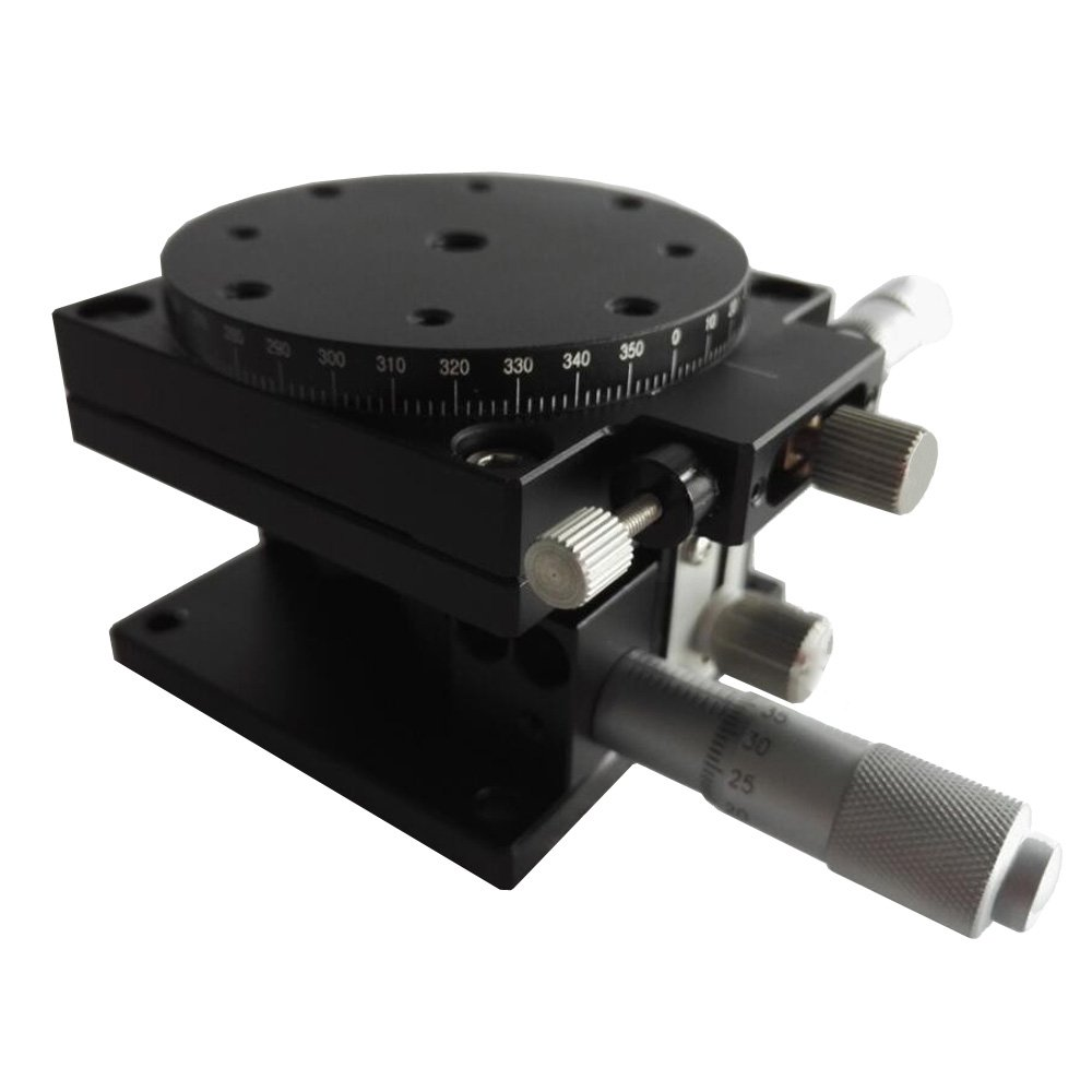 Ochoos ZR Axis 6060mm High Precision Trimming Station Manual Displacement Platform Linear Stage Sliding Table ZR60