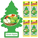 Little Trees auto air freshener, Green Apple, 6-Packs (4 Count)
