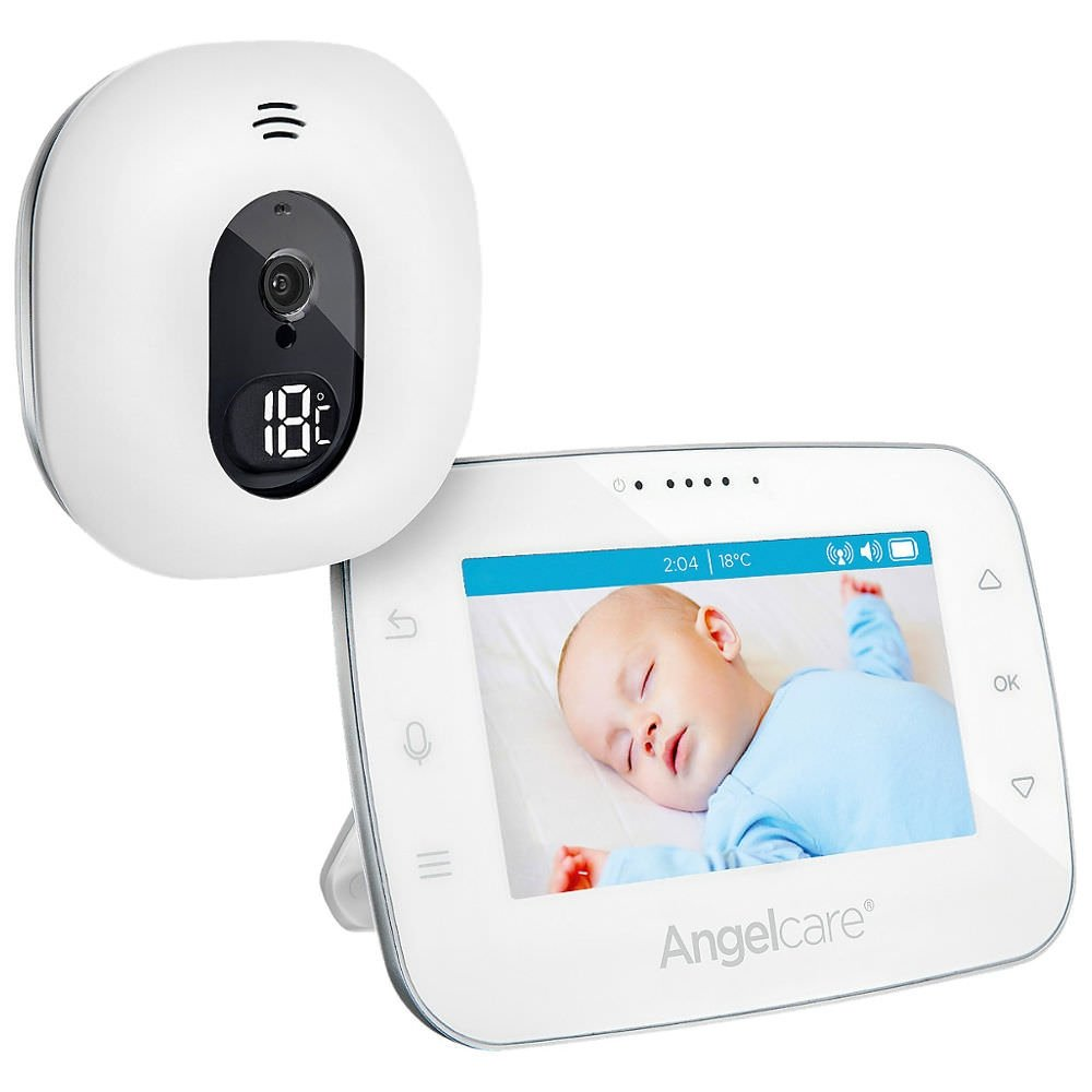 Angelcare A0310-DE0-A1011 Babyphone mit Video-Überwachung AC310-D / 4.3 Display, weiß weiß