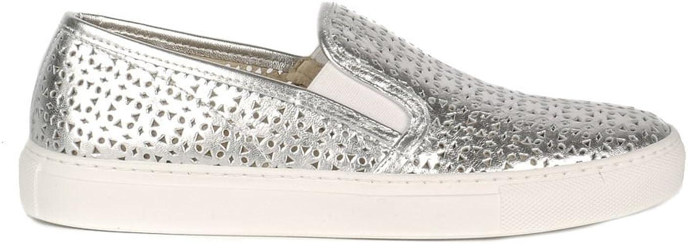 Elia B Zapatos Polo Zapatillas Mujer 41 Plateado: Amazon.es ...