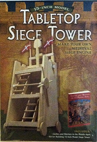 Medieval Warfare Kit for Building a 15-inch wood Model Siege Tower