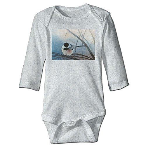 Richard Unisex Newborn Bodysuits Black Capped Chickadee Adult Boys Babysuit Long Sleeve Jumpsuit Sunsuit Outfit 12 Months - Black Park Friday Polo