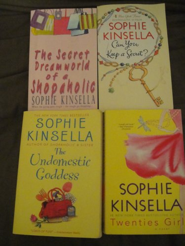 Sophie Kinsella Collection of 4 books: The Secret Dreamworld of a Shopaholic+Can you Keep a Secret+The Undomestic Goddess+Twenties Girl