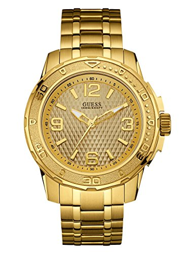 GUESS Men's Stainless Steel Casual Bracelet Watch, Color: Gold-Tone (Model: U0681G2)