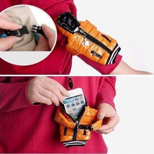 Tasche Handy Hülle f. Samsung S4 Sony Xperia iPhone Nokia HTC Case Daunenjacke