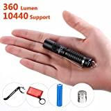 Best Small Flashlight Highest 360 lumens: UltraTac K18 Powerful LED AAA Key Chain Torch Light 4...