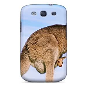 Excellent Design Eastern Gray Kangaroo With Joey Phone Case For Galaxy S3 Premium Tpu Case
