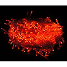 HDE Expandable 100 LED String Lights Wedding Fairy Rope Dorm Room Multifunction Lights Home Holiday Craft Decoration (Red)