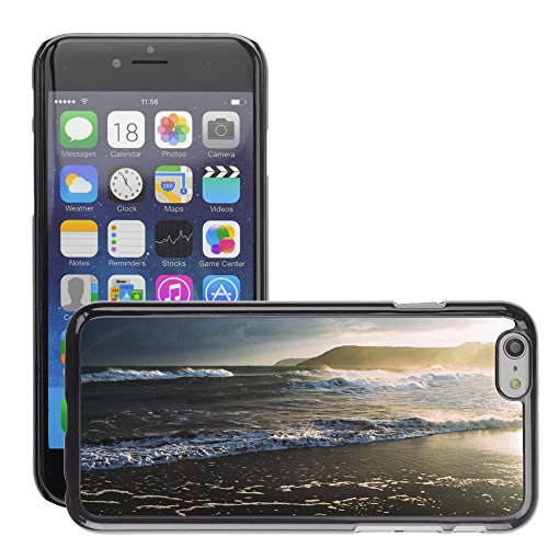 Stampato Modelli Hard plastica Custodie indietro Case Cover pelle protettiva Per // M00421608 Waves Shore Ocean Beach Breakwater // Apple iPhone 6 4.7""