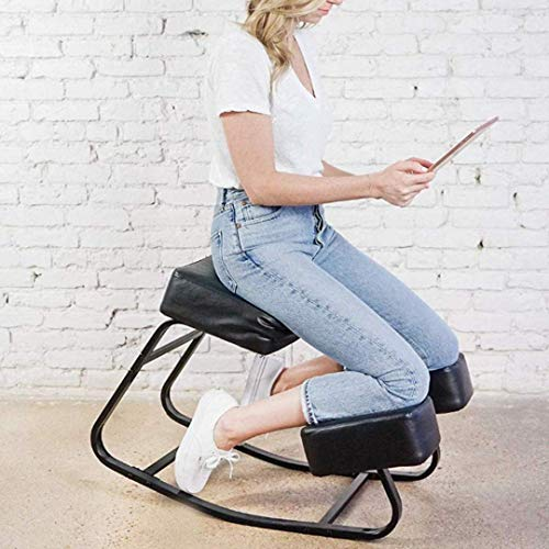 Sleekform Amsterdam Kneeling Chair | Rocking Balance Knee Stool for Bad Backs, Neck & Shoulders Tension | Thick Cushions for Comfortable Rocking | Improves Blood Circulation | Great for Office & Home (Best Chair For Bad Back)