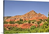 Canvas On Demand Premium Thick-Wrap Canvas Wall Art Print entitled Successive rock layers, Palo Duro Canyon, Texas.