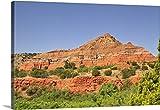 Premium Thick-Wrap Canvas Wall Art Print entitled Successive rock layers, Palo Duro Canyon, Texas.