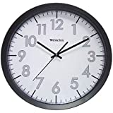 Westclox 14'' Office Black White Clock