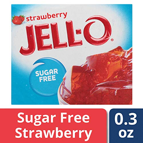 (Jell-O Sugar-Free Strawberry Gelatin Dessert Mix, 0.3 oz Bag)