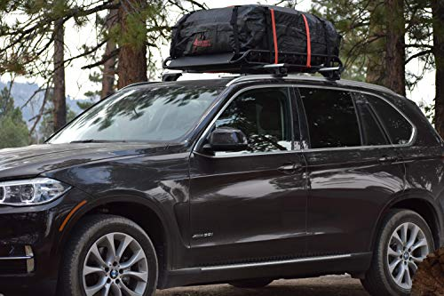 Rocket Straps  Car Top Carrier   Roof Bag Storage   Use Car Carriers Rooftop Luggage Carrier with Roof Racks & Cross Bars   100% Waterproof PVC 15 cuft RoofBag   Inc Carrier Bag & (2) Lashing Straps by Rocket Straps (Image #6)