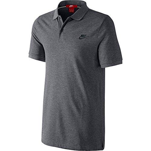Nike Slim Grand Slam Polo Men's T-Shirt Carbon Heather/Black 727330-091 (Size XS) (Grand Slam Polo Shirt)
