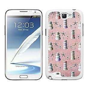 Funda carcasa para Samsung Galaxy Note 2 diseño estampado vintage estrellas de mar con conchas borde blanco