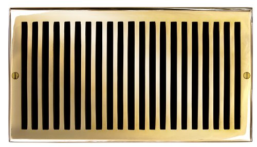 Polished Brass Air Return - 1