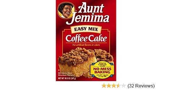 Amazon Com Aunt Jemima Coffee Cake Ez Mix 10 5 Ounce Boxes Pack